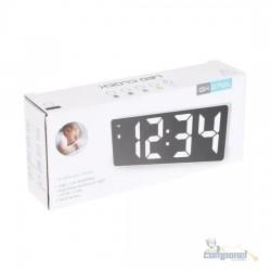 Relógio Led Digital Mesa Despertador Calendário Temp Gh0712l